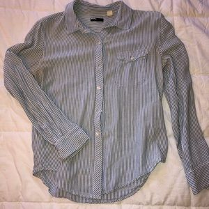 Striped, long sleeve button down